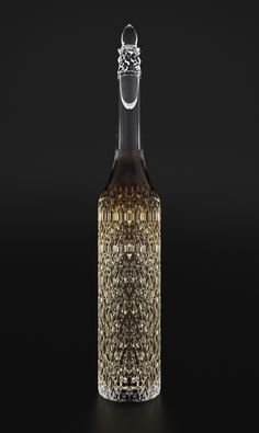 Definitely something owned by Adelson Grant; the Vampire King Cognac bottle inspired by a Gothic Cathedral.