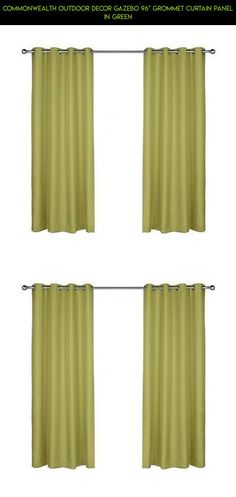 """Commonwealth Outdoor Decor Gazebo 96"""" Grommet Curtain Panel in Green #camera #kit #parts #racing #shopping #gadgets #curtains #drone #plans #decor #outdoor #tech #fpv #products #technology"""