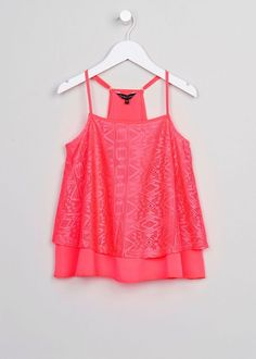 Girls Candy Couture Pink Aztec Top (9-16yrs) View 1