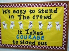 Sassy School Counselor: Find the courage to stand out Elementary School Counseling, School Social Work, School Counselor, Counselor Bulletin Boards, Classroom Bulletin Boards, Character Bulletin Boards, Motivational Bulletin Boards, Kindness Challenge, Business Education