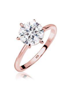 Elli Ring »Verlobung Swarovski® Kristalle rosé vergoldet«