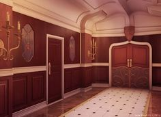 Hall, Background, Anime Background, Anime Scenery, Visual Novel Scenery, Visual Novel Background