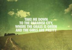 Guns n Roses - Paradise City. One of my favourite songs and my funeral song!!!