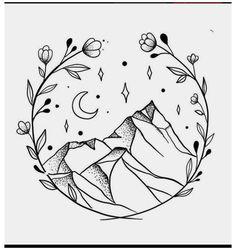 Cute Easy Drawings, Mini Drawings, Art Drawings Sketches Simple, Doodle Drawings, Doodle Art, Drawing Ideas, Easy Drawing Designs, Simple Tumblr Drawings, Drawing Tips