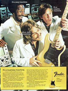 Fender Stratocaster advert