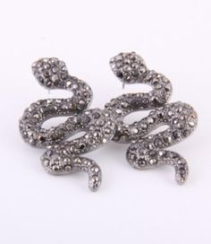 Hematite Snake Rhinestone Post Earring Arras Creations https://www.amazon.com/dp/B00C3BGREM/ref=cm_sw_r_pi_dp_x_1-eaybRKWCBHW