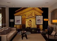 "One of the most famous tourist spots in Paris: The Arc de Triomphe or ""Triumphal Arch"", can be a striking wall mural perfect for traveler that longs for Paris. You can adorn this wall mural either at your home or office.  http://www.inkshuffle.com/arc_de_triomphe-1330190112"