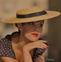 Lady London Straw Boater Couture Smart & by AndTheyLovedHats