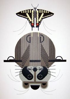 Raccrobat - Charley Harper Lithograph