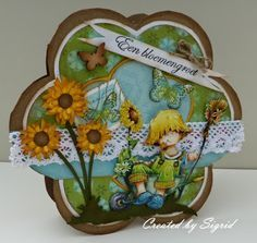The Snoesje blog: Bloemen in de tuin 3d Cards, Marianne Design, Daisy, Lunch Box, Blog, Read News, How To Make, Crafts, Manualidades