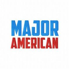 Major American Embroidery Font Set - Daily Embroidery