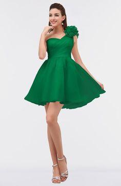 852e2400a91 ColsBM Itzel Green Elegant A-line Sleeveless Zip up Short Flower Bridesmaid  Dresses