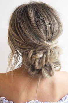 wedding hairstyles thin 30 Wedding Hairstyles Ideas For Brides With Thin Hair wedding hairstyles for thin hair low bun with braided texture on long hair blohaute Ball Hairstyles, Easy Hairstyles For Long Hair, Office Hairstyles, Anime Hairstyles, Stylish Hairstyles, Hairstyles Videos, Hairstyle Short, School Hairstyles, Wedding Hairstyles Thin Hair