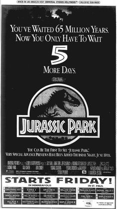 Jurassic Park (1993) Jurassic Park Poster, Jurassic Park Series, Jurassic Park 1993, Jurassic Park World, Michael Crichton, Scary Movies, Good Movies, Thriller, Science Fiction