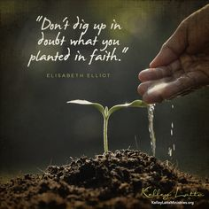 """""""Don't dig up in doubt what you planted in faith. Faith Scripture, Scripture Quotes, Bible Verses, Scriptures, Short Bible Quotes, Be Strong And Courageous, Thank You God, Daughters Of The King, Christian Encouragement"""