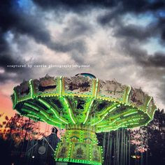 The Swings at Darien Lake Amusement Park, lit up all pretty at night!  follow me on Instagram at cameragirl22  Image by © Captured By Carrie Photography  http://www.facebook.com/CapturedByCarriePhotography