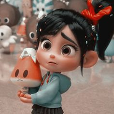 I think that's a candy corn she's holding Cartoon Wallpaper Iphone, Disney Phone Wallpaper, Cute Cartoon Wallpapers, Disney Princess Pictures, Disney Princess Art, Disney Art, Vanellope Y Ralph, Vanellope Von, Cartoon Icons