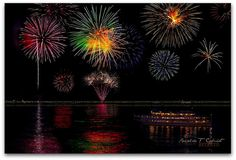 So much beauty.  Fireworks at Lake George NY by Ronaldo F Cabuhat, via Flickr