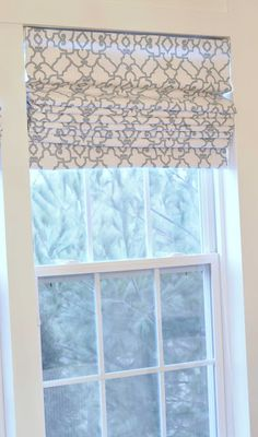 Simple and easy roman shades - Maybe these would work for those pesky windows in my kitchen...