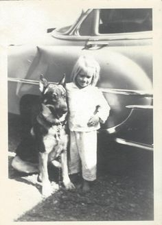 A girl and her dog- reminds me of how Shiv would have tea parties with me when I was younger