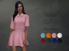 Sentate's Poppy Shirt dress
