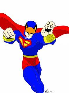 hanna barbera's blue falcon/superman