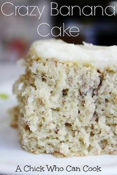 So first let me start off on how amazing this cake is. It is light, moist and wi… So first let me start off on how amazing this cake is. It is light, moist and with a slight taste of bananas and oh we cannot forget t… Food Cakes, Cupcake Cakes, Crazy Cakes, Banana Split, How Sweet Eats, Easy Desserts, Baking Desserts, Sweet Recipes, Crazy Cake Recipes