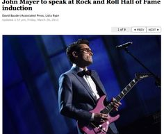 John Mayer at Rock and Roll Hall of Fame