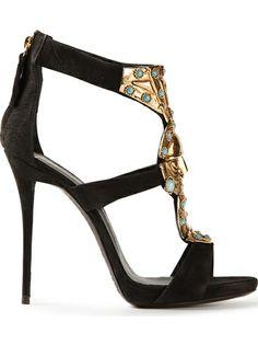 Giuseppe Zanotti Design Mask Embellished Sandals