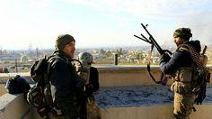 Iraqi Elite forces advance in Mosul.