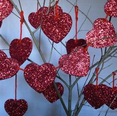 #Deco_Dots Shape and Bake by #burtonandburton #Valentine #Valentines_Day #red #hearts #glitter #DIY_project #DIY #love #crafts #bling_bling #decorations #events