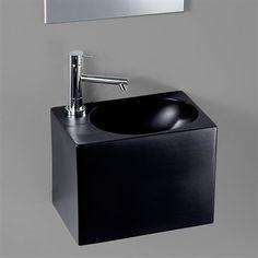 The Black Box - Sort håndvask i smart og anderledes firkanetet design
