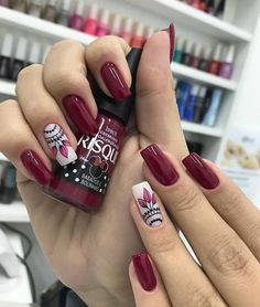Brilliant Decoredo De Uñas for Your property Em Nails, Work Nails, Cute Nails, Pretty Nails, Burgundy Nails, Purple Nails, Classy Nail Designs, Funky Nails, Luxury Nails