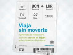 Boarding Pass Banner designed by Isaac Bordons. the global community for designers and creative professionals. Banner Design, Boarding Pass, Graphic Design, Creative
