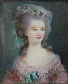 Portrait de Marie Thérèse de Savoie Carignan, princesse de Lamballe, 1787 Anne Vallayer Coster