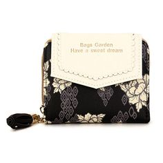 Material							PU Leather											Color							Black,Pink,Green											Weight							180g											Length							11.5cm(4.53'')											Width							3.5cm(1.38'')											Height							9.5cm(3.''74'')											Closure							Zipper			 Package Included: 1 * Wallet