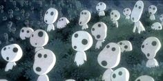 Kodamas, from The Princess Mononoke