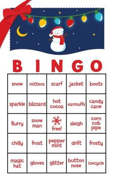 Classroom Christmas Party Ideas: Games BINGO - make a riddle about each item instead of calling it out