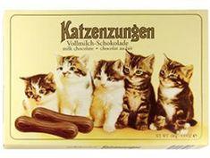 Katzenzungen - Sarotti Milk Chocolate Cat Tongues-kocie języki :) moje dzieciństwo...