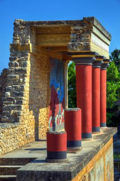 Crete, Knossos Palace   Greece