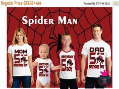 On SALE 30% OFF Spiderman Birthday Shirt Boy Dad Mom by Popzybows