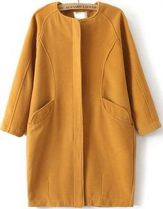 Shop Yellow Long Sleeve Pockets Woolen Coat online. Sheinside offers Yellow Long Sleeve Pockets Woolen Coat & more to fit your fashionable needs. Free Shipping Worldwide!