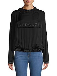 Black Luxury, All Black Everything, Versace, Graphic Sweatshirt, Sweatshirts, Sweaters, Fashion, All Black, Moda