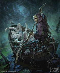 m Warlock Necromancer NE boat dock bodies river lake island Manor house story Dark Fantasy Art, Fantasy Artwork, Dark Art, Monster Art, Fantasy Monster, Arte Horror, Horror Art, Art Sinistre, Arte Obscura