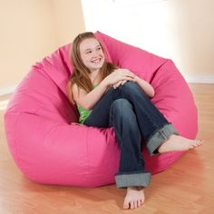 It's comfortable and best of all it's super-durable! This Large Vinyl Bean Bag chair has a great shape and the vinyl upholstery is supporting you while hanging out in front of the television.  Filled with comfy beads the bean bag is available in black purple red yellow blue and pink.     In accordance with the Consumer Product Safety Commission thi