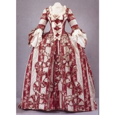 1770s Gown from Colonial Williamsburg. It looks like candy!