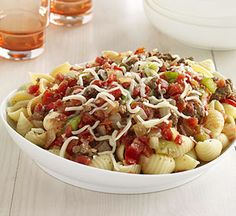 Beef It Up: Quick and Easy Family Dinners: Quick Meat Sauce and Shells (via Parents.com)