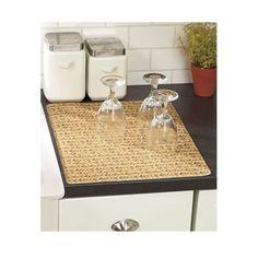 Kitchen Dish Drainer Dry Mat No Break Quick Dry Cut Custom Size Surface Bamboo in Home & Garden, Kitchen, Dining & Bar, Kitchen Storage & Organization | eBay