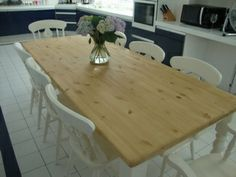 Beautiful large pine farmhouse table: www.pinefarmhousetable.co.uk