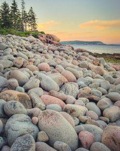 "Maine Landscape Photography Print ""Shoreline with Round Rocks"" Landscape Walls, Landscape Photos, Beautiful World, Beautiful Places, Beach Photography, Nature Photography, Photography Backgrounds, Beach Wall Art, Beach Scenes"